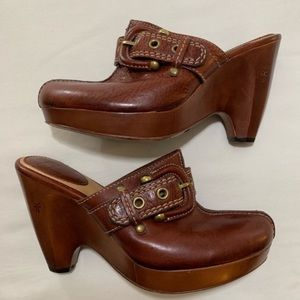Frye Donna Buckle Clogs